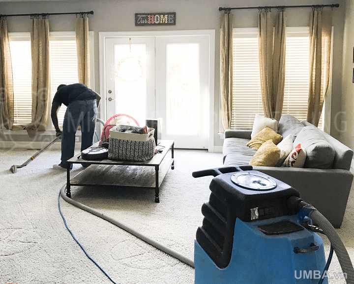 hướng dẫn vệ sinh thảm phòng khách phòng ngủ định kỳ hằng ngày và tuần