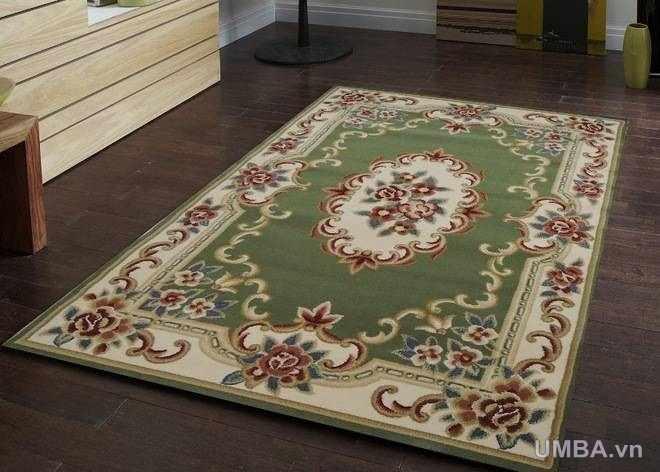 hình ảnh mẫu thảm phòng khách cổ điển sợi ngắn