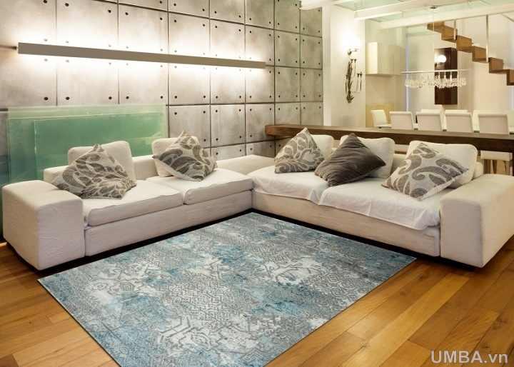 hình ảnh mẫu thảm phòng khách hiện đại sợi ngắn